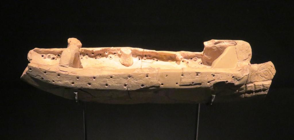 Punic bireme terracotta model, ca 300 BC (photo: A. de Graauw at Alicante Mus. 2015)