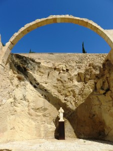 Arch made of stone at Alicante